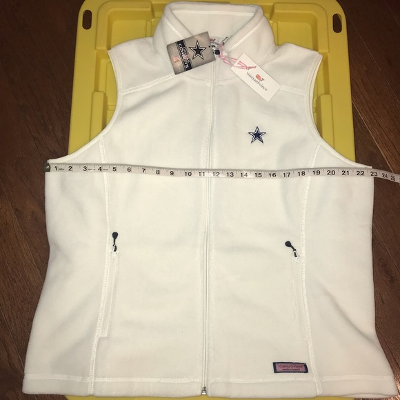 info for 0514a decd9 Vineyard Vines White Westerly Dallas Cowboys Vest NWT